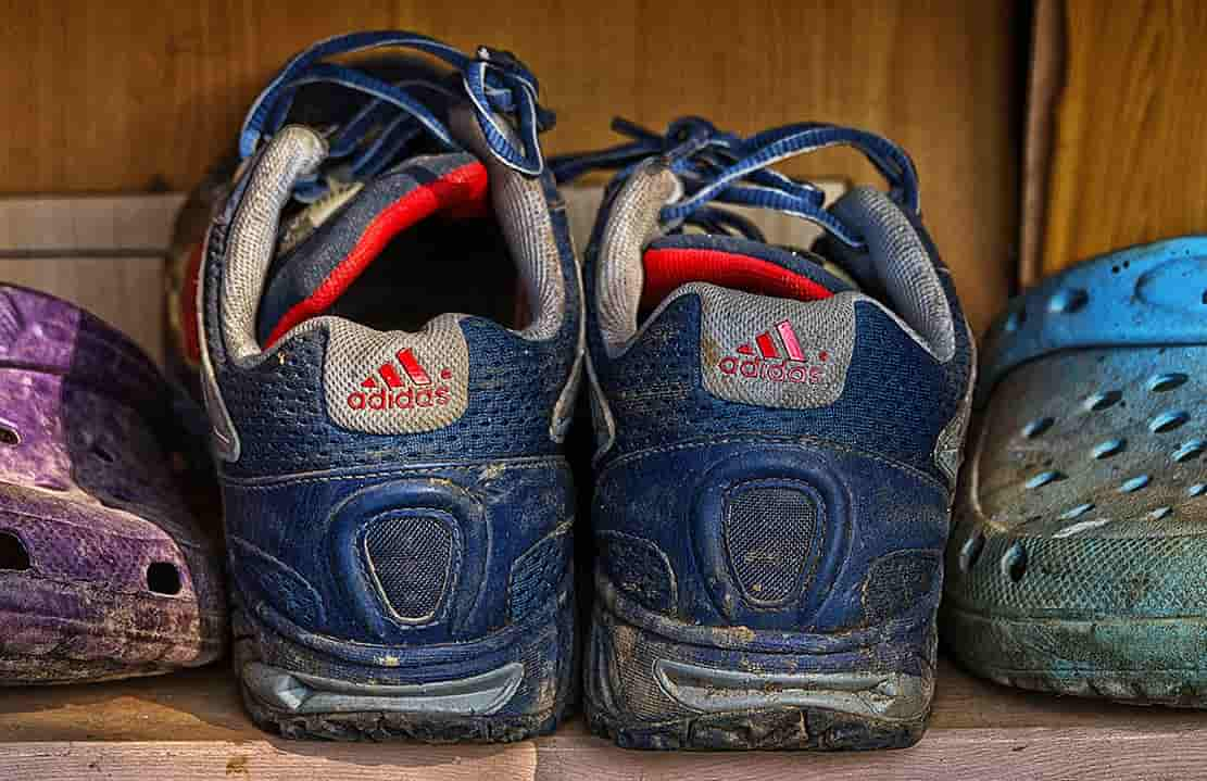 Mr Run's personal favourite running gear for rain: an old pair of shoes with a good grip