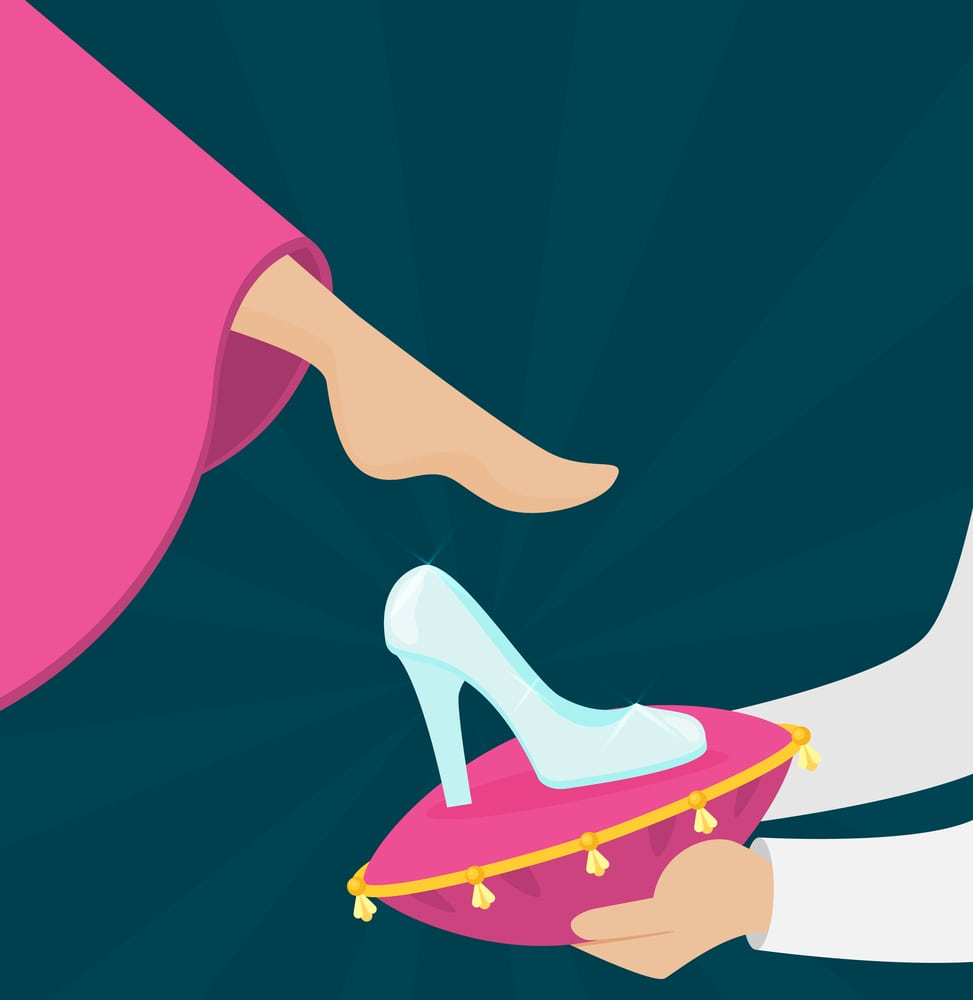cinderella's foot fitted the running shoe