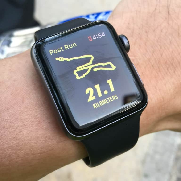 running route tracker watch technology for runners